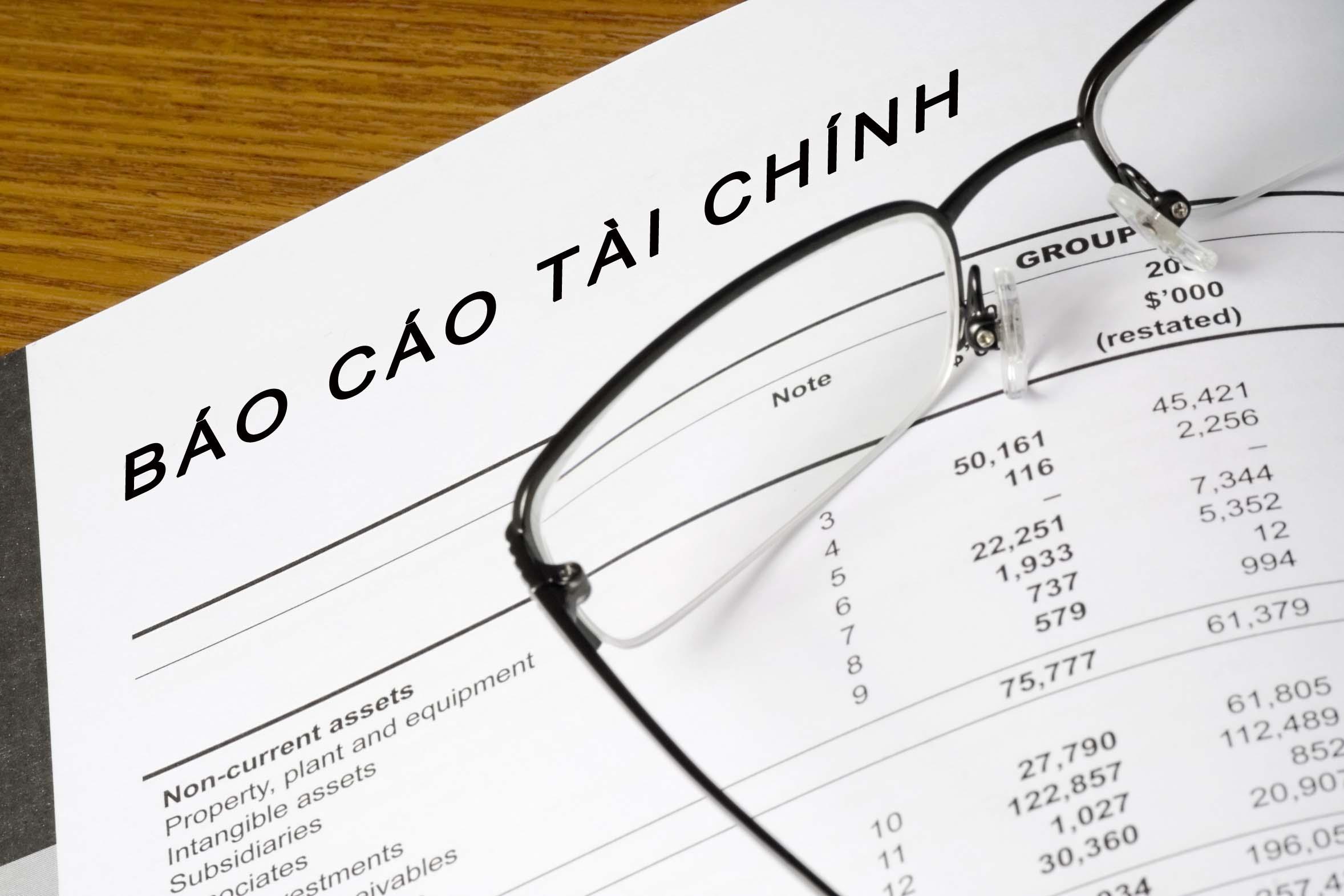 Hướng dẫn sử dụng form báo cáo tài chính