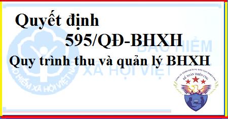 595/QĐ-BHXH Quyết định Ban hành quy trình thu BHXH, BHYT, BH thất nghiệp, BH TNLĐ - bệnh nghề nghiệp; quản lý sổ BHXH, thẻ BHYT