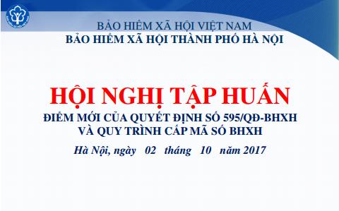 Tài liệu tập huấn về Quyết định 595/QĐ-BHXH