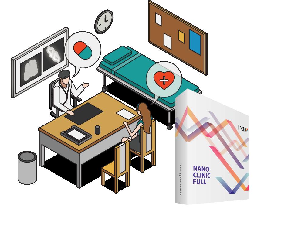 Nano Clinic Full - Phần mềm quản lý phòng khám chuyên nghiệp