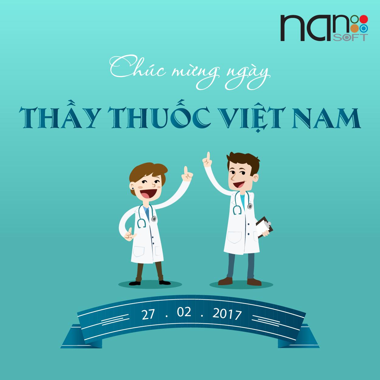 Nanosoft chúc mừng ngày thầy thuốc Việt Nam 27/02