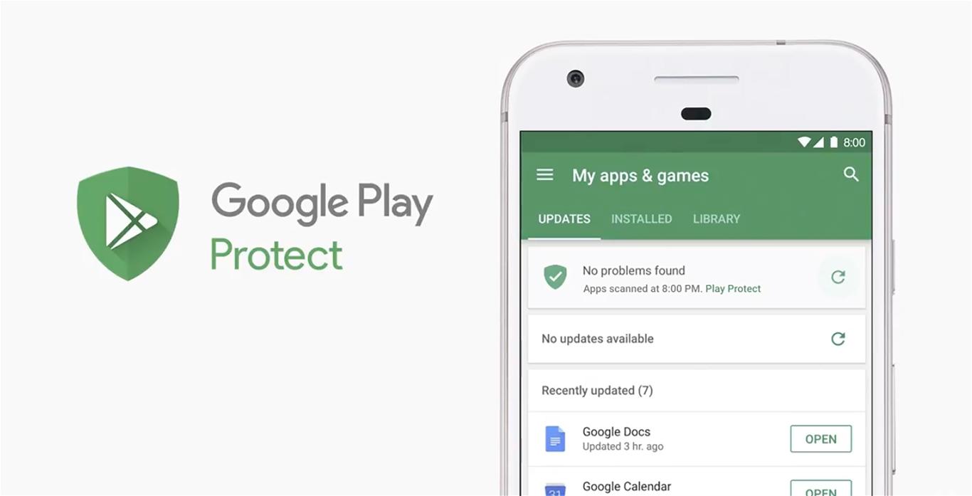 Các thiết bị Android có thể được bảo vệ bởi Google Play Protect
